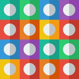 Background with circles in flat icon style Stock Photos