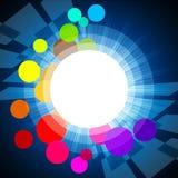 Background Circles Shows Light Burst And Glare. Circles Glow Meaning Light Burst And Backdrop Royalty Free Stock Image