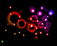 Background with circles and stars Royalty Free Stock Photos