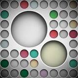 Background with circles for text Royalty Free Stock Photos