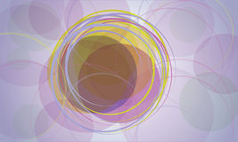 Background with circles. Vector color background with circles stock illustration