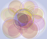 Background with circles Stock Image