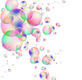 Background with circles. Vector background with colored bubbles royalty free illustration