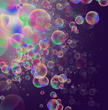 Background with circles. Vector background with colored bubbles stock illustration