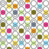 Background with circles. Vector illustration. Royalty Free Stock Photos