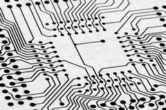 Background with circuit board Royalty Free Stock Image
