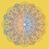 Background circular mandala ornament Slavic patterns illustration. Background circular mandala Boho ethnic ornament with elements of the Slavic and Scandinavian royalty free illustration