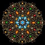 Background circular ornaments of precious stones. Illustration background circular ornaments of precious stones Stock Photos
