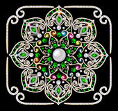 Background circular ornaments of precious stones. Illustration background circular ornaments of precious stones Royalty Free Stock Images