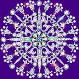 Background circular ornaments of precious stones. Illustration background circular ornaments of precious stones Stock Photography