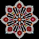 Background circular ornaments of precious stones Stock Photos