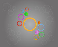Background with cirles. Background with circles of different colors Stock Photos