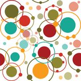 Background with cirles and dots Royalty Free Stock Photos