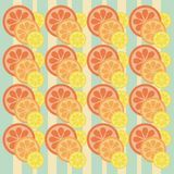 Background with citrus. Fruits and strips Royalty Free Stock Photography