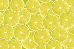 Background with citrus-fruit of lime slices Stock Photography