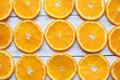 Background with citrus-fruit of orange slices. Close-up. Studio photography. Stock Photos