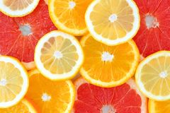 Background of citrus fruit slices Royalty Free Stock Photos
