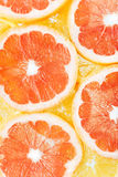 Background of citrus fruits oranges and grapefruit slices. Studi Stock Photography
