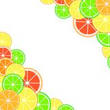 Background with citrus fruits slices stock photos