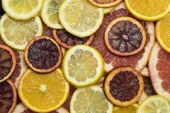 Background citrus ripe juicy slices of orange lemon Royalty Free Stock Photography