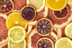Background citrus ripe juicy slices of orange lemon Royalty Free Stock Image