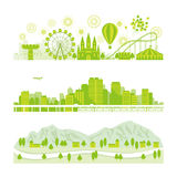 Background. City building economy icon Royalty Free Stock Image