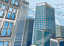 Background City Buildings Royalty Free Stock Image