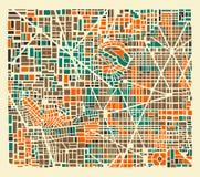 Background city map Stock Image