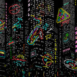 Background City Nightlife Vector Stock Photo