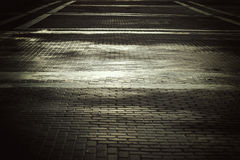 Background city toned cobbles Royalty Free Stock Photography