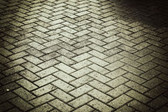 Background city toned cobbles Royalty Free Stock Photo