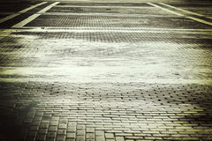 Background city toned cobbles Royalty Free Stock Photos