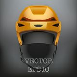 Background of Classic Orange Ice Hockey Helmet Royalty Free Stock Photo