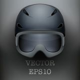 Background of Classic Ski helmet and snowboard Royalty Free Stock Image