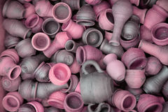 Background - clay pots Royalty Free Stock Photo