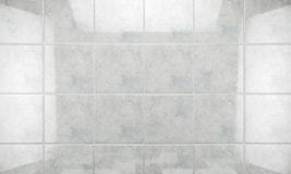 Clean tile wall bathroom background.3d illustration Royalty Free Stock Image