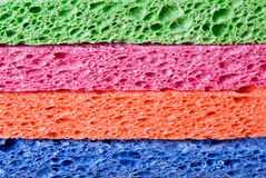 Background Cleaning Sponges. Background of cleaning sponges stacked Stock Image