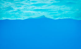Background of clear blue water Royalty Free Stock Images