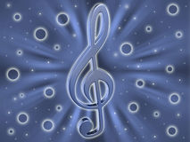 Background with a clef Stock Image