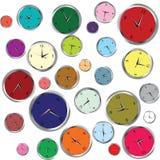 Background with clocks Stock Photos