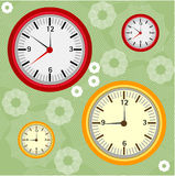 Background with clocks Stock Images