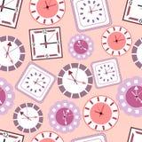 Background with clocks stock illustration