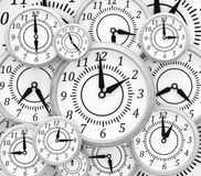 Background with clocks Stock Image