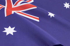 Background close up of Australian Southern Cross flag Royalty Free Stock Images