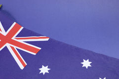 Background close up of Australian Southern Cross flag Royalty Free Stock Image