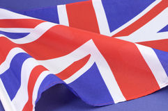 Background close up of British Union Jack flag Royalty Free Stock Images