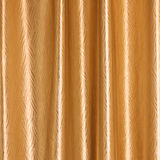 Background, Close up of Gold Fabric Curtain. Close up Texture of Shiny Gold Fabric Curtain (Background&#x29 Stock Photo