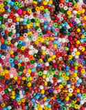 background of close up multi colored beads Stock Image