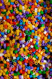 Background of close up multi colored beads Royalty Free Stock Image