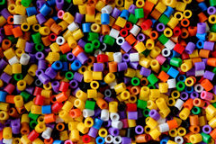 Background of close up multi colored beads Royalty Free Stock Photos
